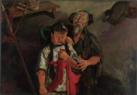 司徒乔《放下你的鞭子》 1940年 油画 125x178cm 中国美术馆藏