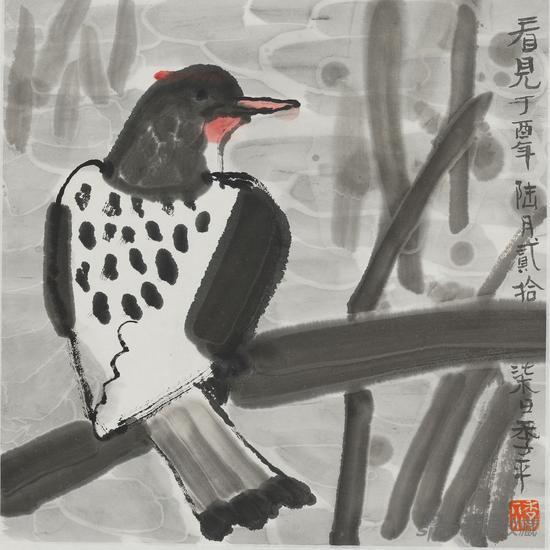 季平作品-水墨花鸟写生三