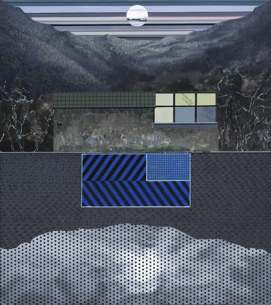 湖边工作室-側一-秋  150cm X170cm  布面油画  2016