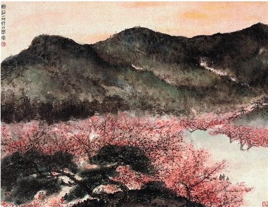 傅抱石 梅花山图 1960年