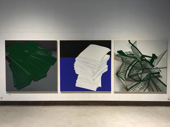 赵宇,《重叠》《复制》《缠绕》,2017