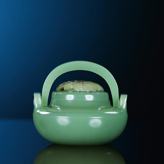 杨光-碧玉福至心灵双提梁炉