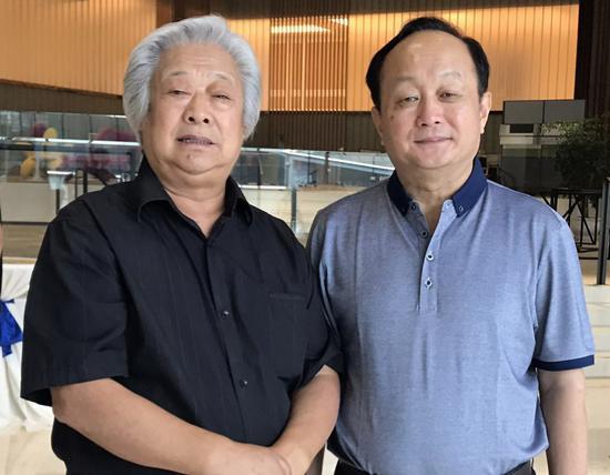 国家产业技术创新战略(培育)联盟秘书长孙小林与孙院士交流