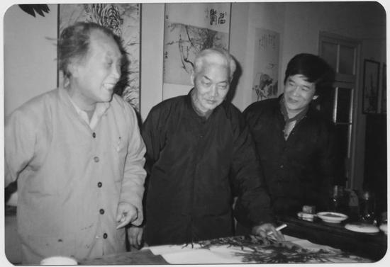 左起:许麟庐、胡爽庵、许化迟