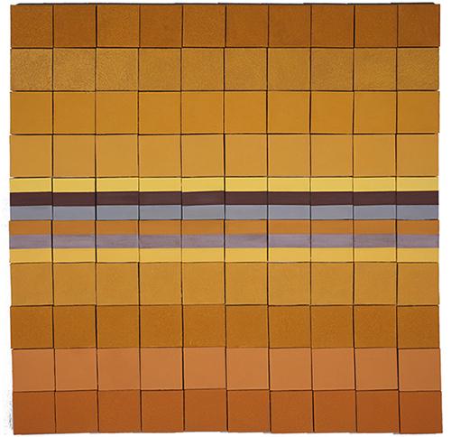 《东方岩彩——本质辉煌》,胡明哲,20cm x 20cm x 100,岩彩, 2016