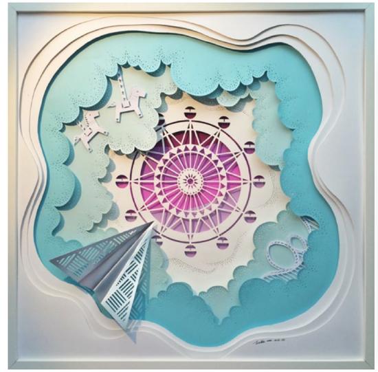 纸质艺术品《五维穿越》