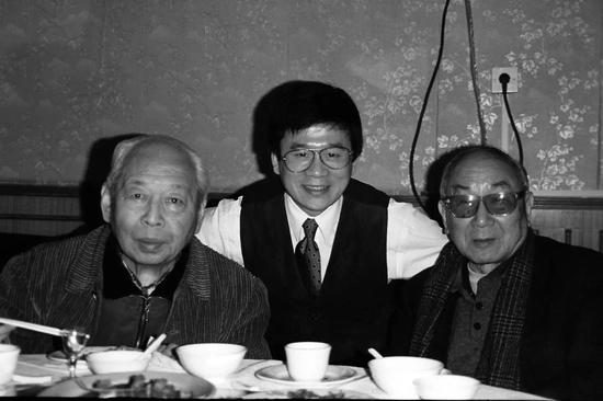 左起:吴祖光、许化迟、宋文治