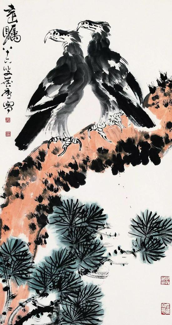 《远瞩》,许麟庐作,179cm×96cm