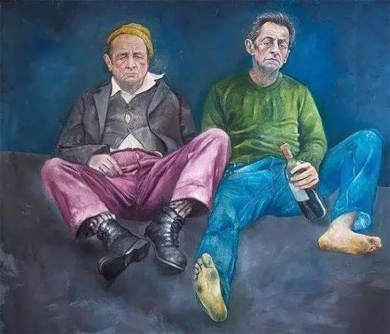 """""""难民版""""法国前总统,奥朗德与萨科齐"""