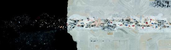 贾海泉 异化山水XL·蚀 183x55cm 纸本水墨 2012年