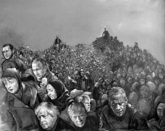 叙利亚艺术家阿卜杜拉·奥马利《脆弱》系列作品