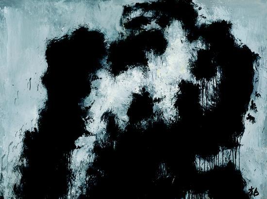 张方白 屹立 3 150×200cm 布面油画 2017 年