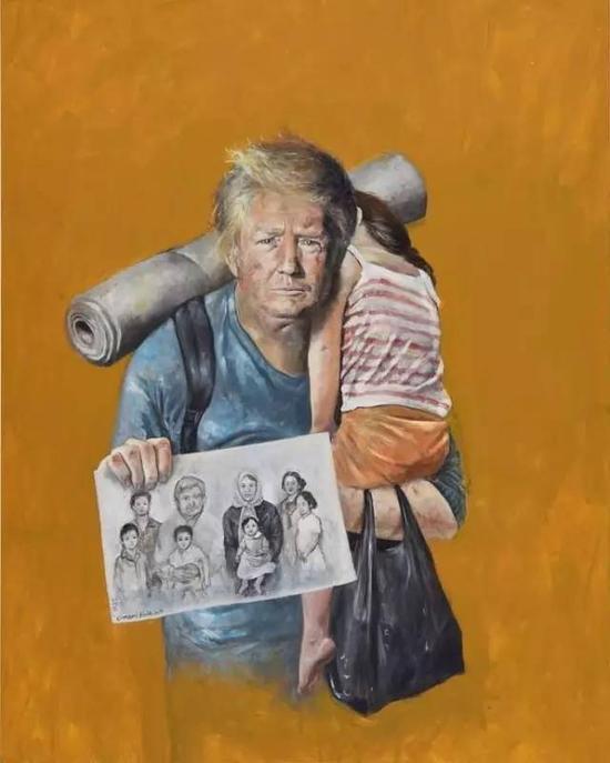 """""""难民版""""的美国总统特朗普"""