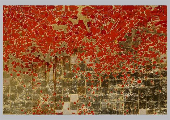 李海旺 语言就是故乡· 一 综合材料 200x300cm 2014年