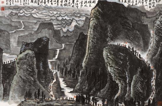李可染的中国画巨制《长征》