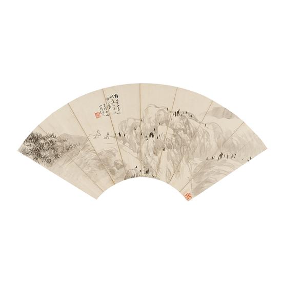 14。任伯年(1840~1895) 为周凤林作峰巅对话图 10万元起拍,34.1万元成交