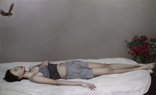 李贵君《信仰 》 110x180cm   2017 布面油画