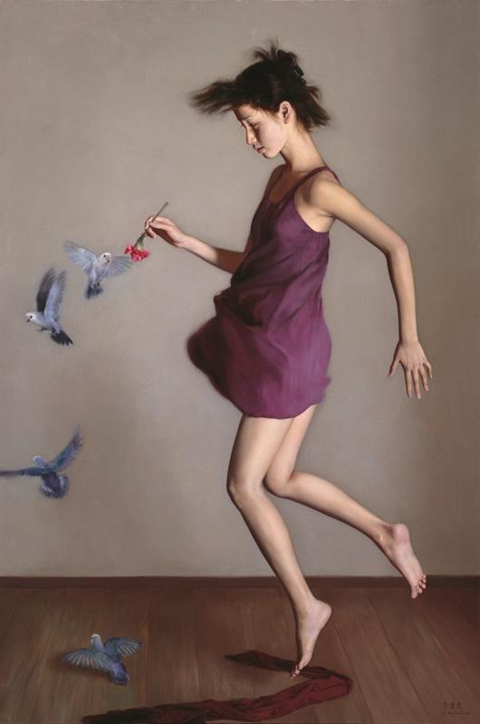 李贵君 《飞 》190x126cm 2008 布面油画
