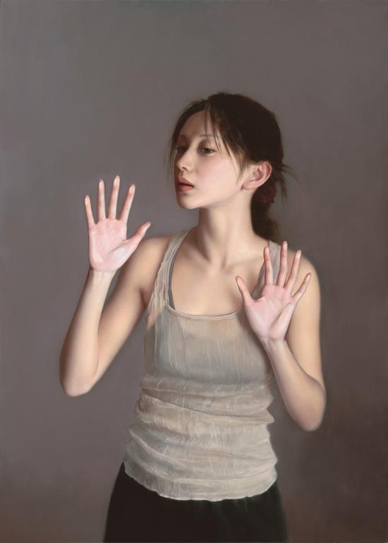 李贵君《一切是否完好如初》75x105 2011 布面油画