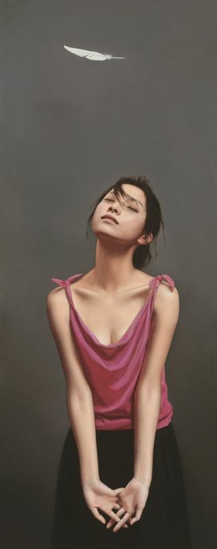 李贵君《感觉你的存在》156x62cm,2011