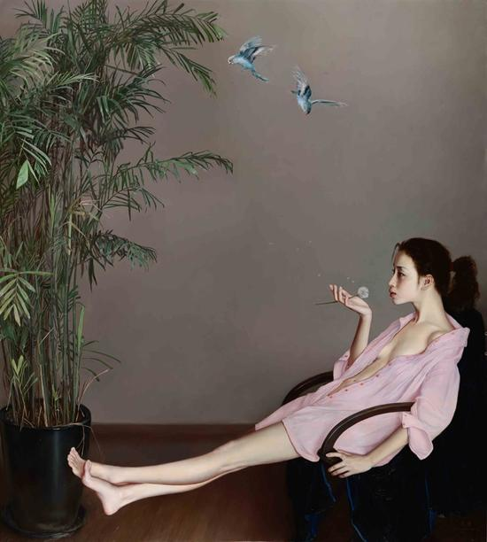 李贵君《蒲公英》200x180cm 2015 布面油画