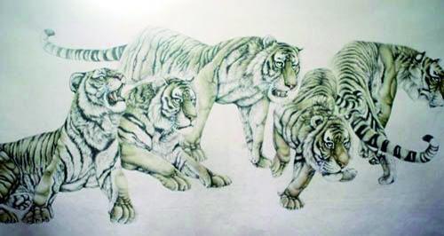 村民们画的虎图价值不菲