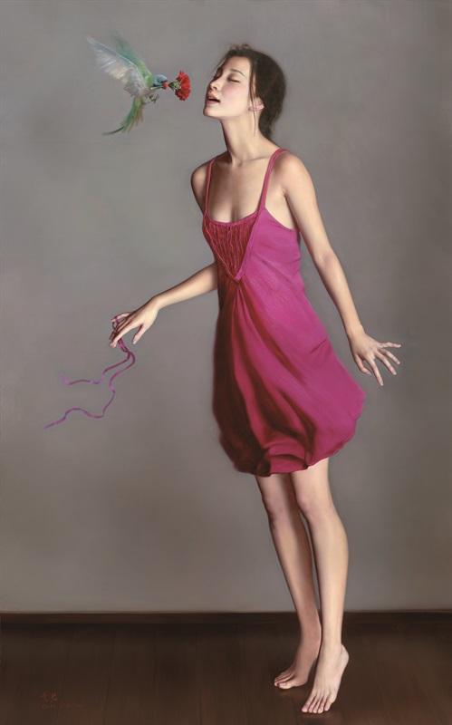 李贵君《迷香》180x113cm 2010年 布面油画