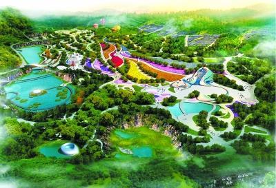 汉白玉遗址公园全景结果图。 高庄村供图