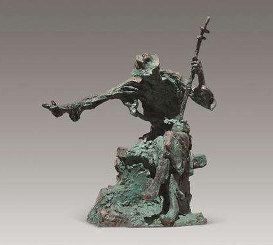钱绍武 阿炳 2004年 50×29×56cm 青铜