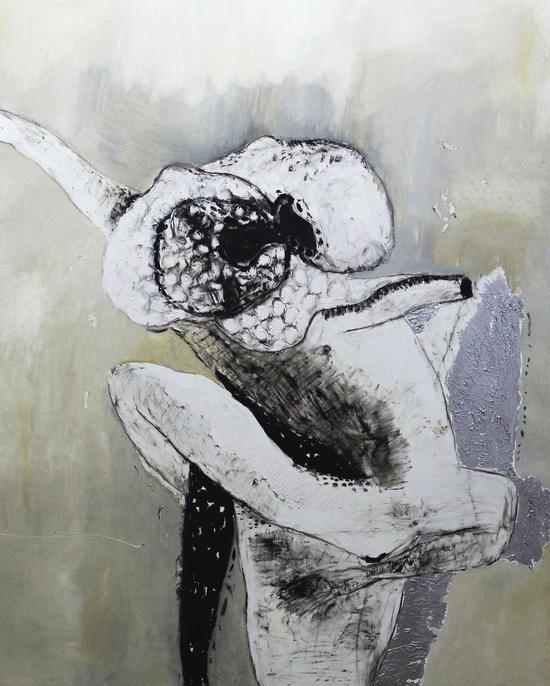 目的论--非人3号_布面油畫100X80cm  2015年