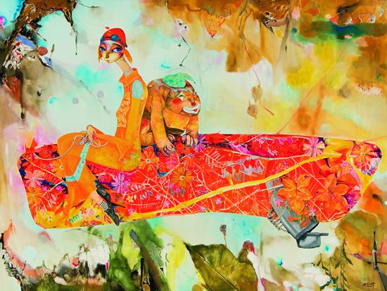 林剑峰 一花一世界-3 150×200cm布面油画2012