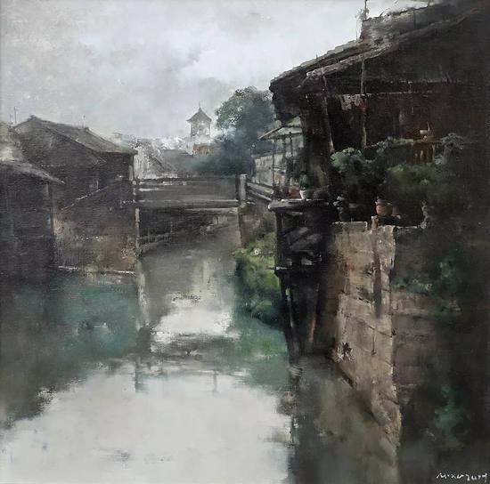 徐明 清晨 80x80cm 布面油画 2017年