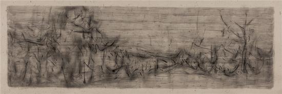刘永涛 《忘园图-150601》 60×180cm 宣纸墨汁 201506