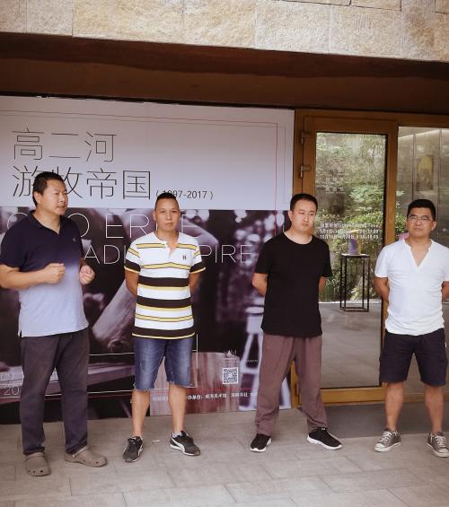 左起顺序为:杨林、高二河、陈量、王传峰