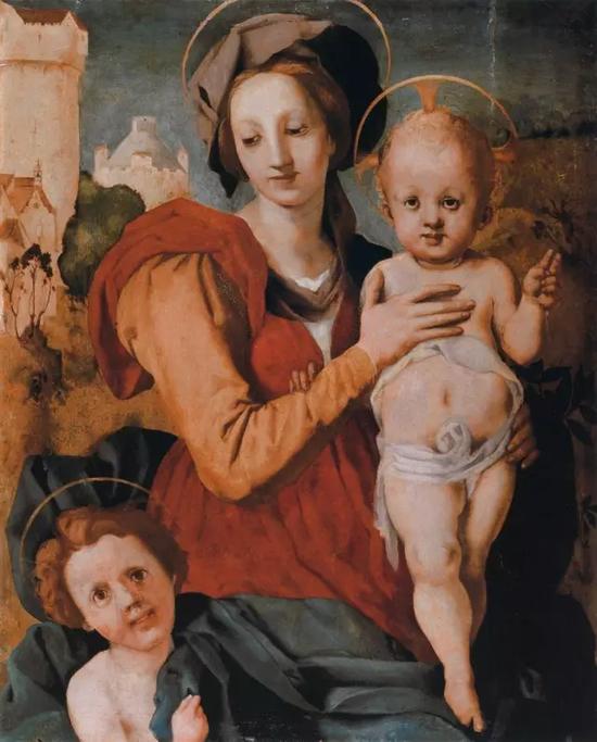 蓬托尔莫《Madonna and Child with the Young St John the Baptist》