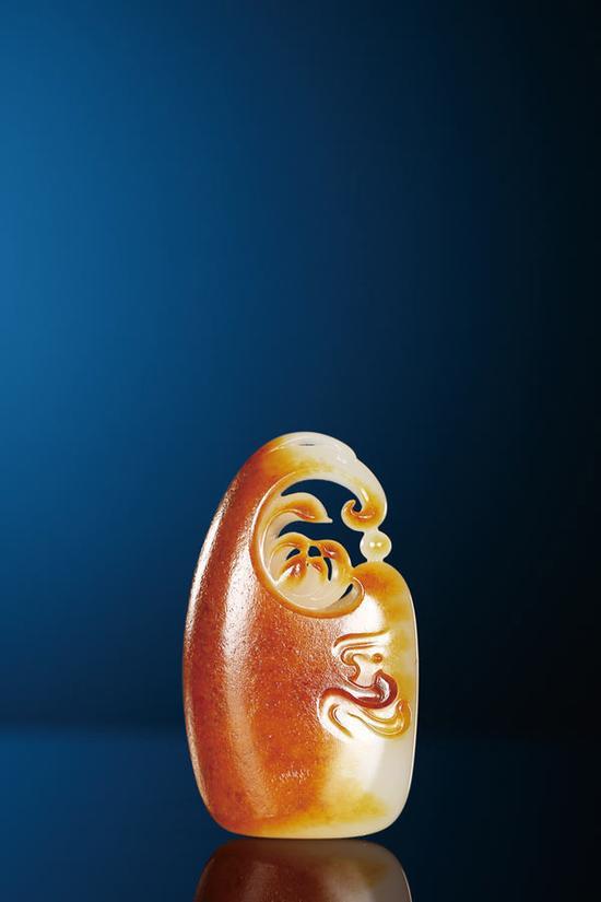 吴金星  和田玉籽料一品清廉佩  5.0×2.9×1.2cm 26g