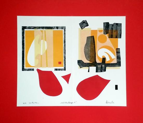 Vera Kekic, Liberation 3, mixed media, 50x70cm