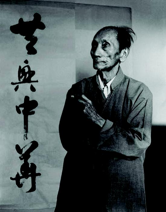 80年代的蒋兆和(邓伟 摄)