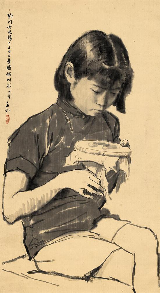 蒋兆和 对门女 89X94cm,1939年