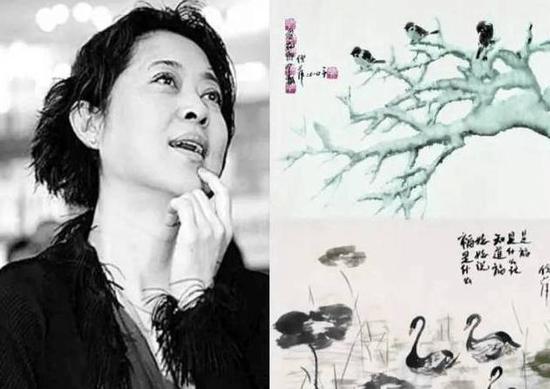 倪萍和她的水墨画