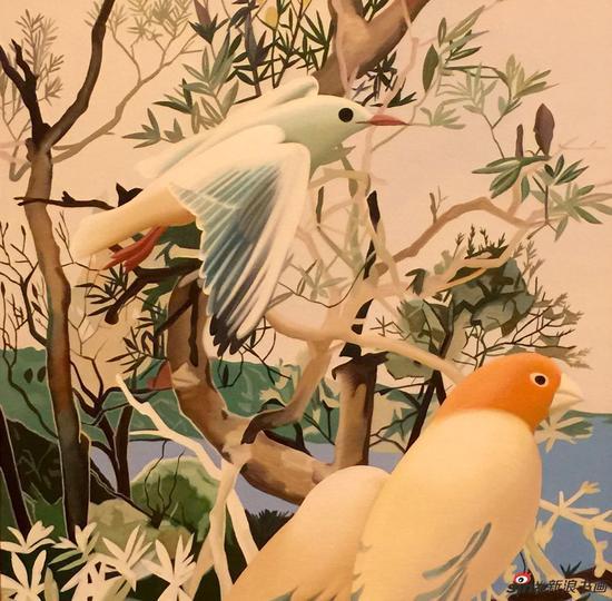 王向明作品-巨人的花园八 布面油画 50x50cm 2016-2017年
