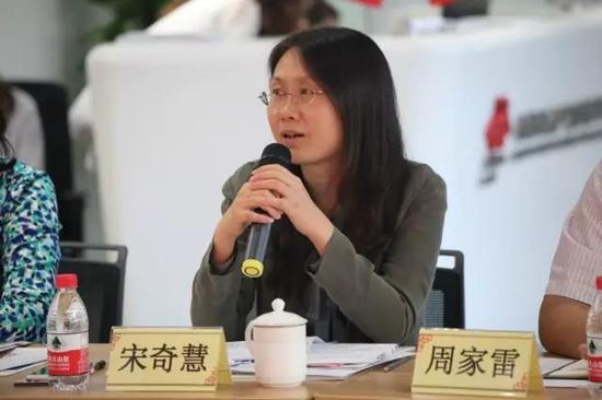 文化部产业司副司长宋奇慧在座谈会现场