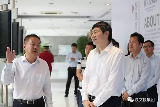 陕文投集团总经理马湘云介绍企业发展情况