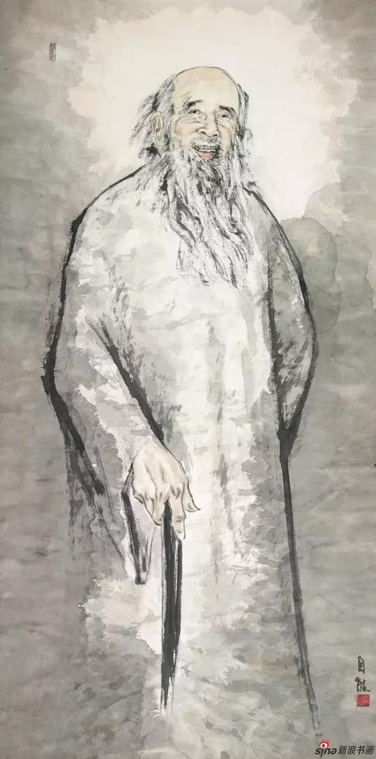 国画《一代宗师张大千》 180cm×88cm