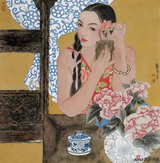 国画《徽韵》 68cm×68cm