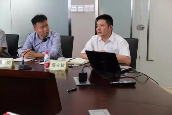 北文中心副总经理贾立斌介绍公司情况