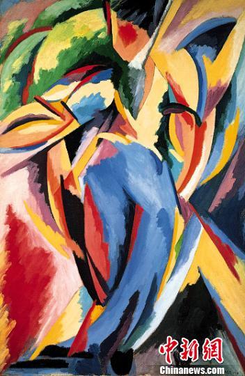 阿尔贝托・马涅利(意大利)《抒情爆炸第19号》。(成都博物馆供图) 钟欣 摄