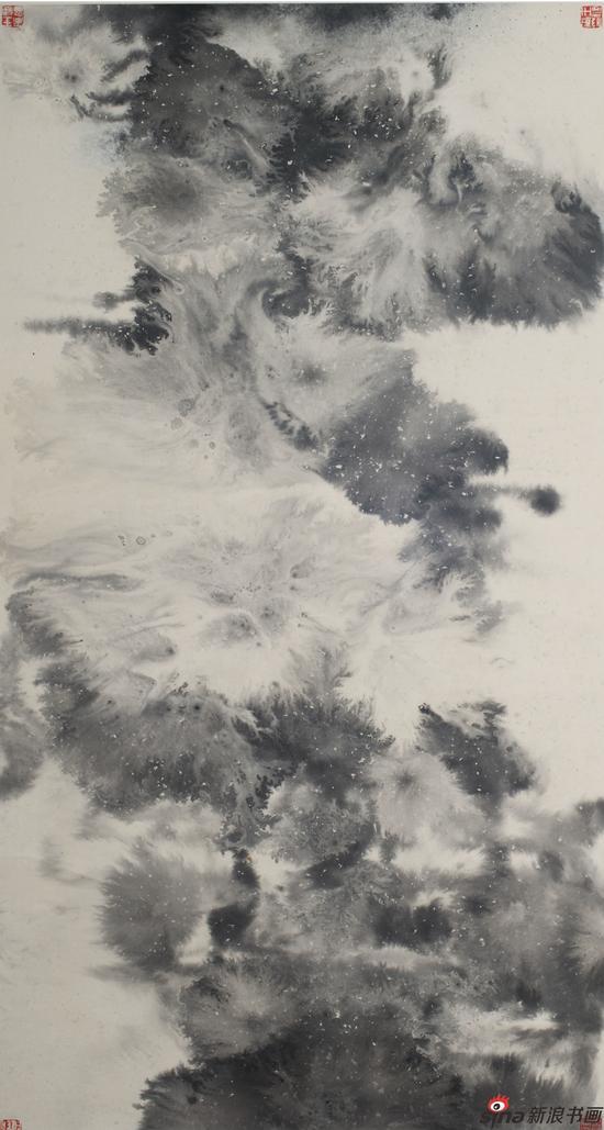 水与墨的交融和碰撞系列八