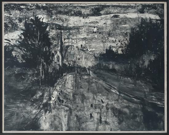 刘永康 《错落的远方》 纸上油画 38.5x50cm 2014