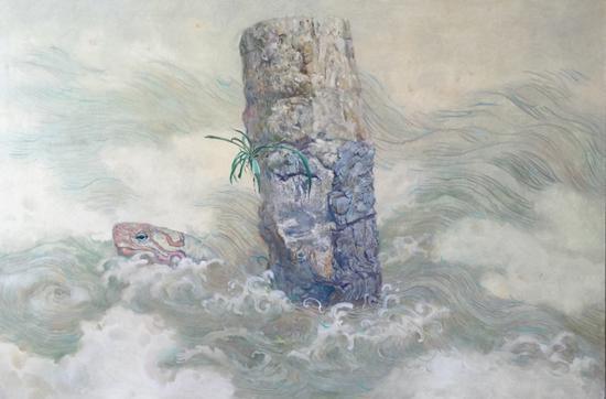 巩固 《沉默之像》 布面油画 60x90cm 2015年